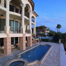Mediterranean Pool by John Henry Architect