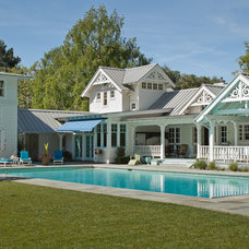 Farmhouse Pool by John Malick & Associates