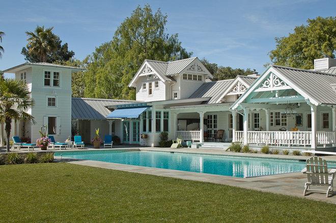 Farmhouse Pool by John Malick & Associates