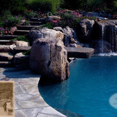traditional pool by Summerset Gardens/Joe Weuste