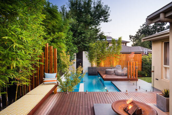 Contemporary Pool by Apex Landscapes & Pools