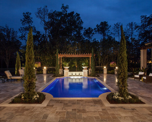 Tile around pool home design ideas renovations photos for Pool design houzz