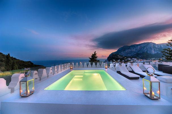 Mediterranean Pool by Fabrizia Frezza Architecture & Interiors
