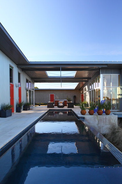 Contemporary Pool by Webber + Studio, Architects