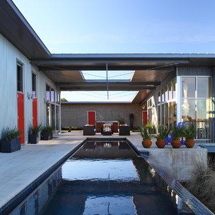 Diseño de piscina alargada actual