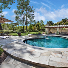 Contemporary Pool by Cathy Morehead