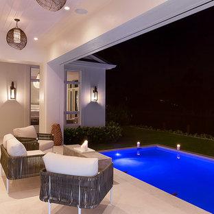 Inspiration pour une piscine méditerranéenne.