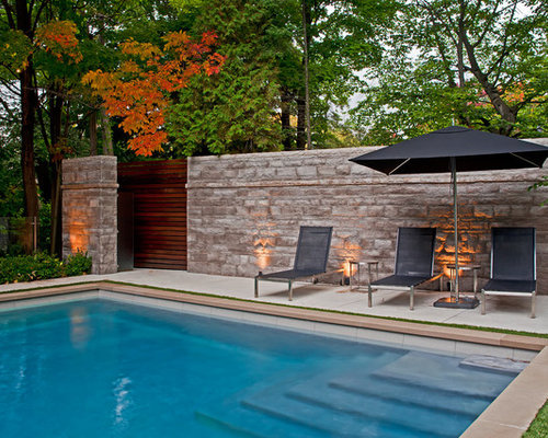 Pool Waterline Tile Ideas hand painted swimming pool liners Contemporary Pool Idea In Toronto With Concrete Slab