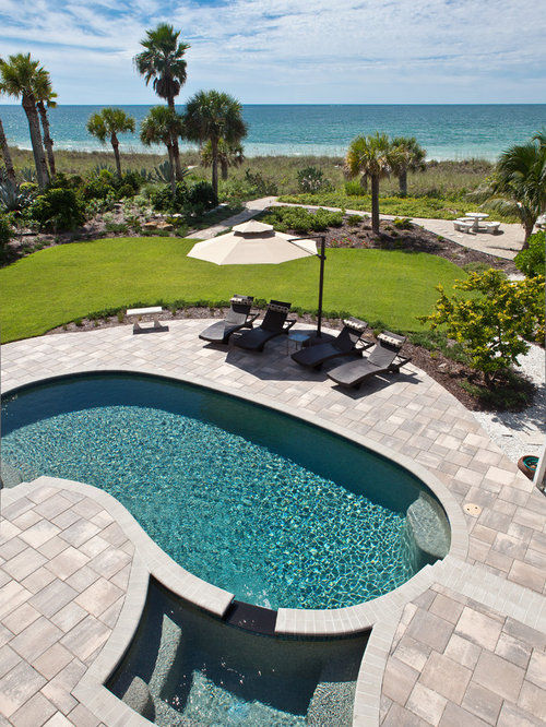 Tropical Kidney Shaped Pool Design Ideas Renovations Photos