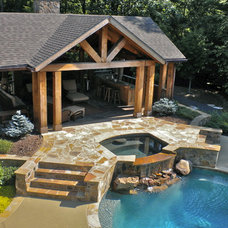 Eclectic Pool by King Landscaping