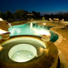 Contemporary Pool by Pool Stop