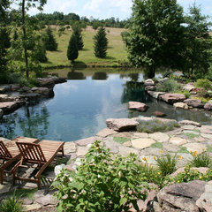 traditional pool by Poole's Stone and Garden, Inc.