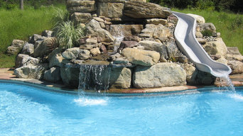 Water features, slides, spas