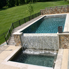 Farmhouse Pool by Budding Branch Landscape & Design