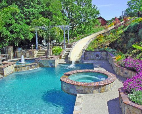 Fotos de piscinas dise os de piscinas de tama o medio - Tamanos de piscinas ...