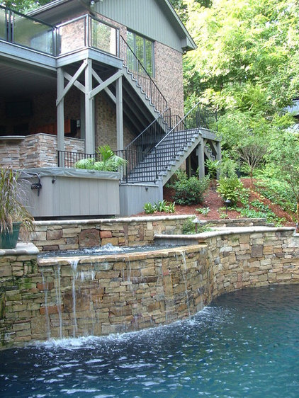 Traditional Pool by Arrington Landscape Architecture
