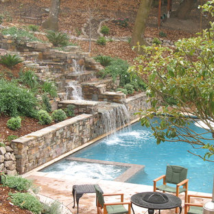 Waterfall, Swimming Pool and Spa