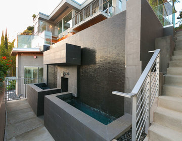 waterfall wall feature