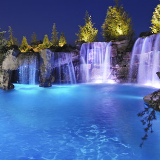 Waterfalls & Grottos Give This Oklahoma Pool Multiple Entertainment Areas - Fami