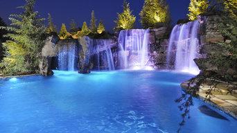 Waterfalls & Grottos Give This Oklahoma Pool Multiple Entertainment Areas - Fami