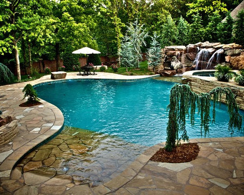 Walk in pool houzz for Walk in pool designs