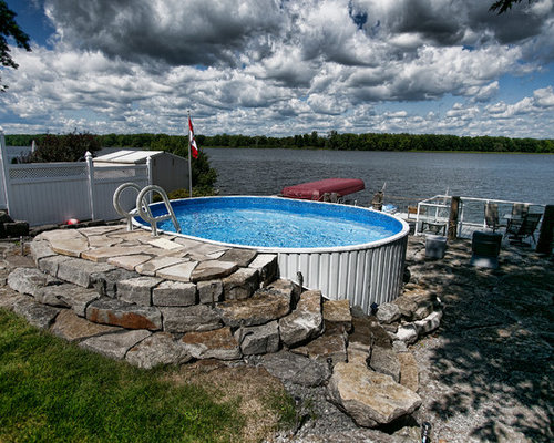 Best rustic front yard pool design ideas remodel for Rustic pools