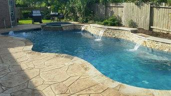 Waterside pool build