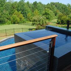 Modern Pool by Falling Water Custom Pools, Inc.