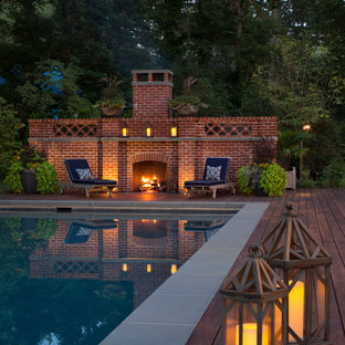 Design ideas for a traditional rectangular pool in Baltimore with decking.