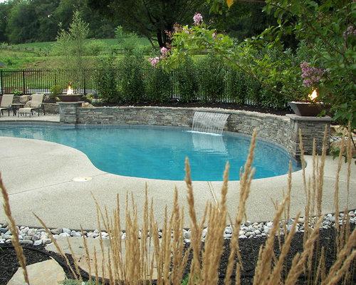 Flagstone Patio Around Pool