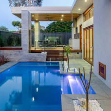 Contemporary Pool by Victoria's Interiors