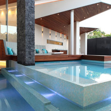 Contemporary Pool by Ceramica Senio