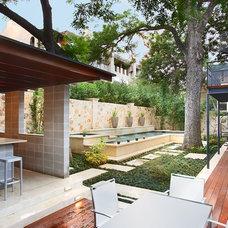 Contemporary Pool by Texas Construction Company