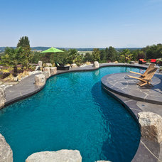 Transitional Pool by Pacifica Landscape Works Inc.