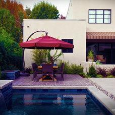 Modern Pool by JMSDesignAssociates