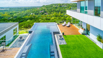 West Lake Hills Infinity Edge Pool & Decks (Ipe, Cable Railing)