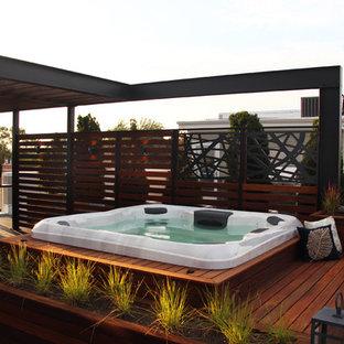 Imagen de piscina industrial, grande, en azotea