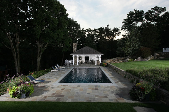 Traditional Pool by Daniel Contelmo Architects
