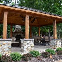 Red Cedar Fire place