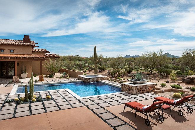 Mediterranean Pool by Tate Studio Architects