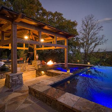 White Oak Timber Framed Pool Cabana