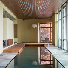 Contemporary Pool by CTA Architects Engineers