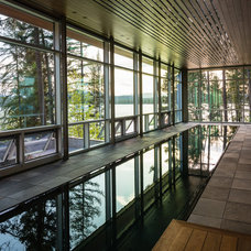 Contemporary Pool by Envi Interior Design Studio
