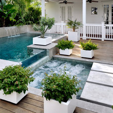 Beach Style Pool by Craig Reynolds Landscape Architecture