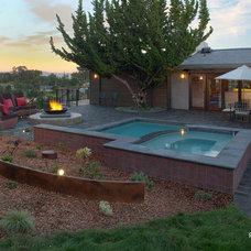 Contemporary Pool by Designs Dell'Ario Interiors