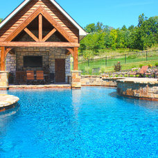 Rustic Pool by Baker Pool Construction