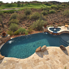 Eclectic Pool by California Pools & Landscape