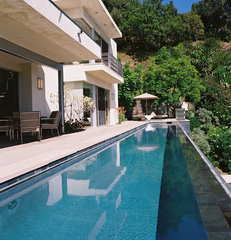 contemporary pool by Studio William Hefner