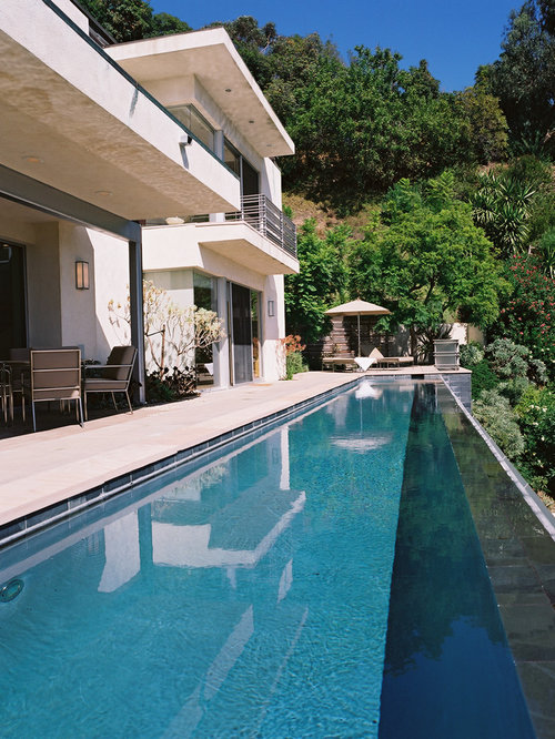 Example Of A Trendy Infinity Pool Design In Los Angeles