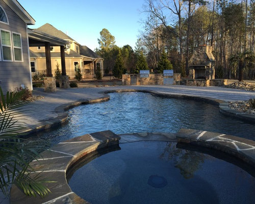 Craftsman raleigh pool design ideas remodels photos for Pool design raleigh nc